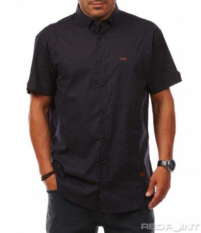 Спортно елегантна риза с къс ръкав 8131