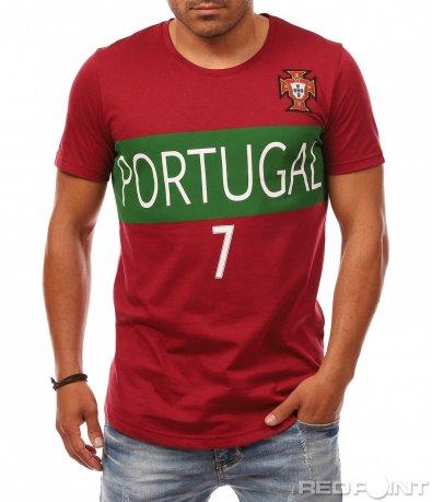 Футболна червена тениска 8138