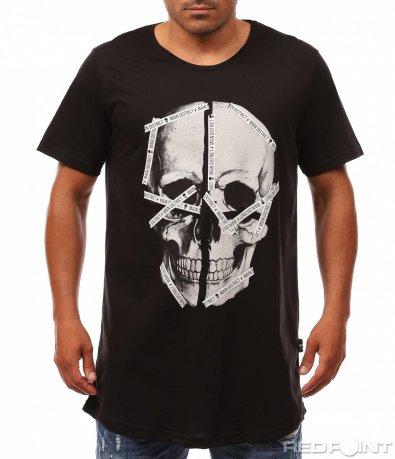 Ексцентрична тениска с череп 8139