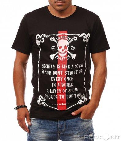 Тениска с екстравагантна щампа 8117