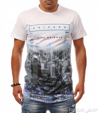 Семпла тениска с мотиви 8143