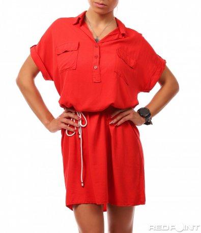 Къса червена рокля 8171