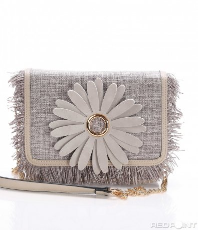 Сива чанта е цвете 8185