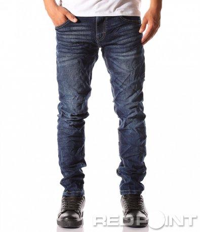 Дълги дънки в син цвят 8199