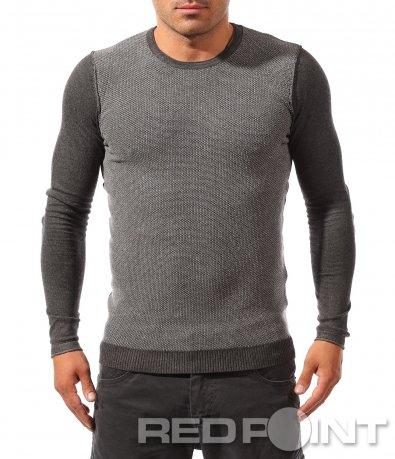 Ефектна блуза с меланжиран акцент 8239