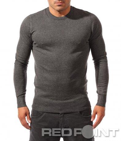 Класическа едноцветна блуза 8241